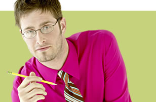 Photo of man with glasses and pencil.